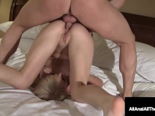Cute Young Blonde Taylor Valentine Butt Pumped By Hard Cock!
