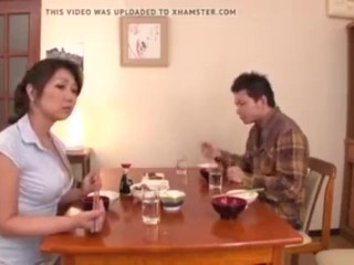 Japanese mother and sun sex at home