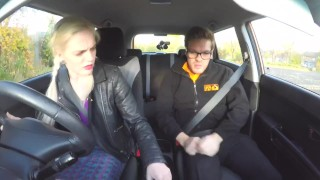 Fake Driving School Sexy jealous babe loves a good backseat fuck and facial