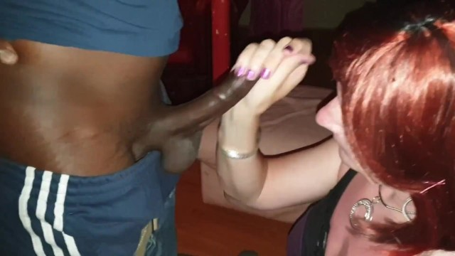 Sissy Lucy Deepthroats 10 inch BBC before getting fucked.