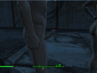 Shows his huge dick and then fucks fallout...