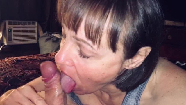 Amateur with mature Mature cougar wife loves sucking young man dry.