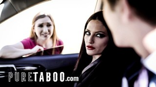 PURE TABOO Couple Picks Up Teen Hitchhiker & Have Threesome