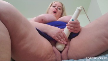 Wet Pussy Panty Play - Reyna Mae - BBW Panties Fetish Masturbation Big Tits Blonde MILF Solo