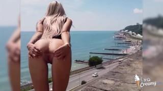 girlfriend deep sucking and sensual fucking in a public place – teen porn