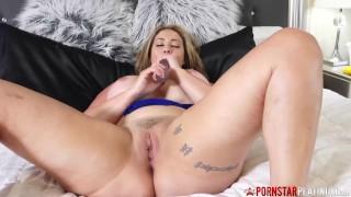 PORNSTARPLATINUM Busty Mature Eva Notty Talks Dirty Solo