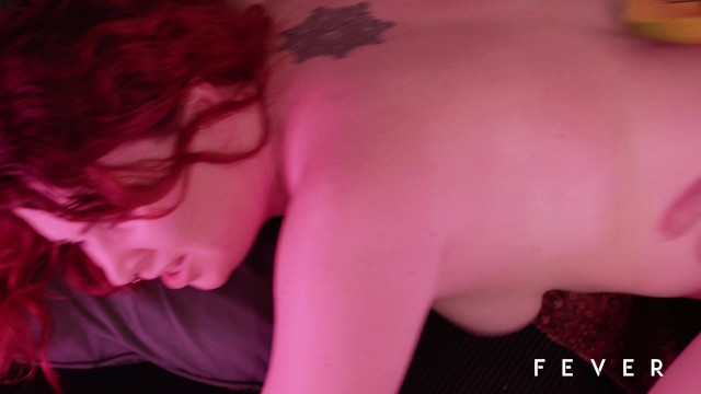 Sexy redhead fucking with fruits, vegetables and mature man 34