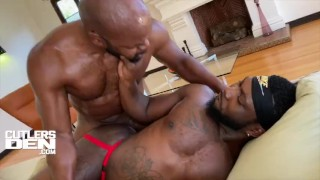 CUTLERSDEN CUTLER X & CHINO BLAC MONSTER COCK ROUGH RAW ASS FUCKING AND ASS FUCKED MOUTH CUM FEEDING