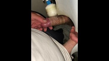 Straight lad Gloryhole - Big cock - Big Load.