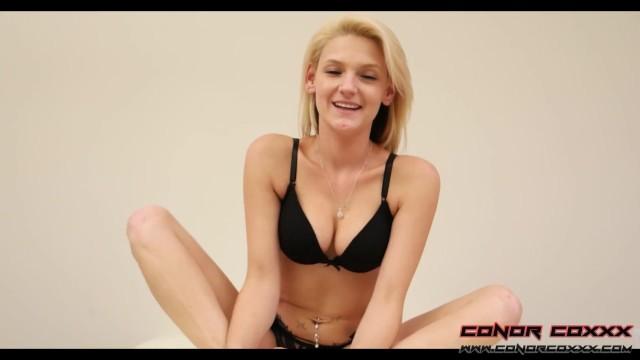 Hope Harper - Teen Sensual Teasing FootJob POV 4