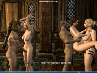 Mass orgy of associates alice took part in...