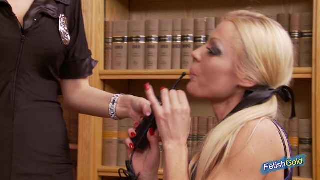 Two gorgeous blondes with big tits get hammered deep by pervert older guy at the library 5