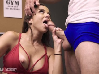 Trickery - Big Booty Latina Tricks Personal Trainer Into Sex