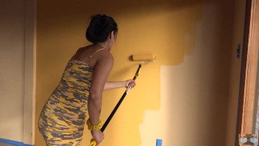 Viva Athena Naked Wall Painting During Covid 19
