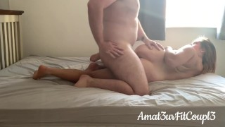Real Couple Love Making after Shower - Intense Creampie