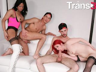 Trans bella bia mastroianni big dick foursome guys...