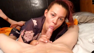 Wife giving awesome blowjob,with her sexy feet showing!!! (Part3) cumshot.  Jkgoofs