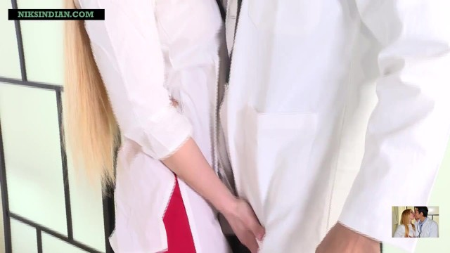 Indian doctor impregnates blonde patient as she begs for sperms in her pussy 13