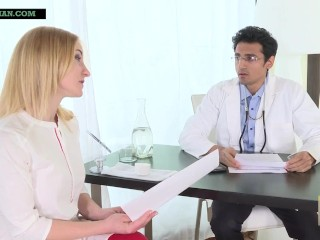 Indian doctor impregnates blonde patient as she begs...