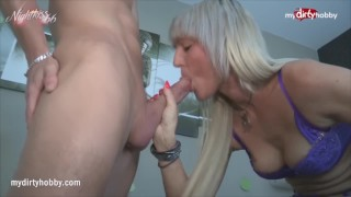 MyDirtyHobby - Cum hungry mature seduces young stud for some rough fuck