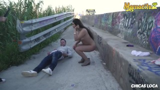Chicas Loca - Petite Peruvian Teen Girlfriend Outdoor Public Fucking