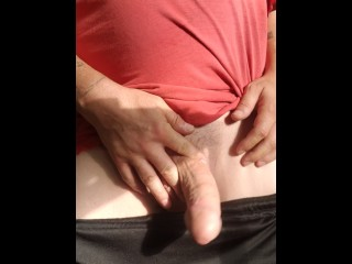 Wagging My Fat Cock At Work