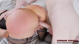 Hot Redhead Latina Cougar Enjoys Big Young Cock - Sexy Vanessa & Conor Coxxx