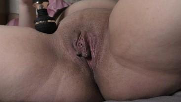 Hitachi close-up real female orgasm in 3 minutes!