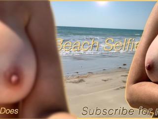 Wifey nude selfie video beach...