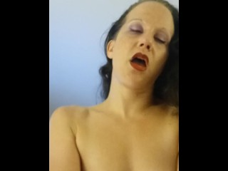 Slut Bunny Rides her StepBrothers Cock Hard then Squirts on his Face
