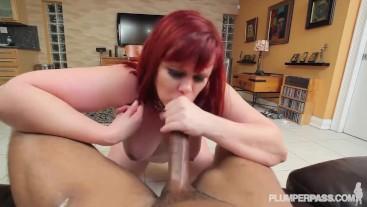Huge Booty Mom Marcy Diamond Takes Big Black COCK Deep