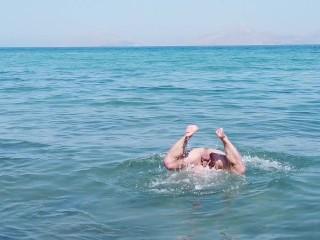 Beach swimmer...
