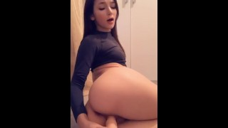 Petite brunette pussy dildo ride nude snap