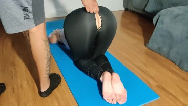 He couldn't resist my ass after workout - painal sex