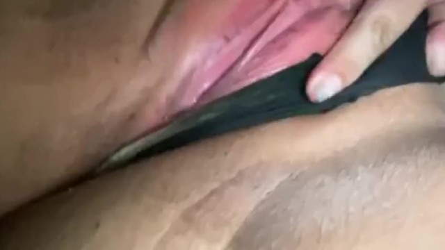 Playing with my freshly shaved pussy 5