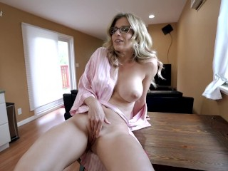 Caught My Busty Step Mom Masturbating and Now she Wants Anal Sex – Cory Chase