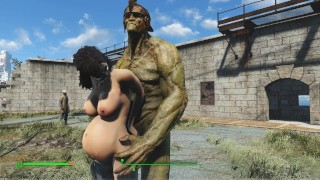 Huge orc roughly fucked brunette | PC Game, Fallout Porno
