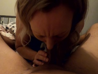 This girl knows how to blow a cock, POV deepthroat gagging & spitting until I blow my load – MIN MOO