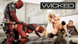 Screen Capture of Video Titled: Wicked - Deadpool Finally Fucks In His Porn Parody