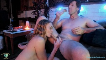 PeppermintDusty: Hot Dog Double Header Cock Sucking and Eating