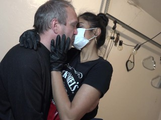 Quarantine kissing only 1 mask dr grey and...