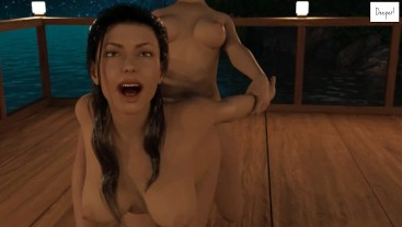 FUTA WITH HUGE DICK IS FUCKING A HORNY GIRL