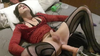Lucie trave extreme fuck machine. Sissy lucie