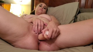 Busty milf Roxy Knight up close fucking with real mold of a thick cock