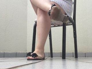 @tici_feet TICII FEET tici feet ticii_feet IG dangling and shoeplaying transparent flat (preview)