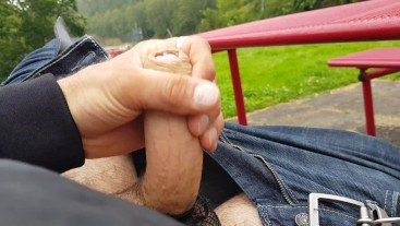 Risky masturbation at a highway reststop. Wonder if the passing cars could see what I did