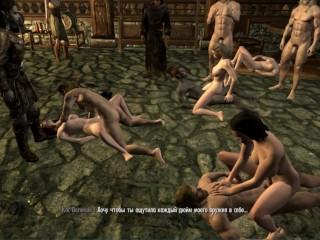 Sex orgy fight club skyrim gangbang sex of...