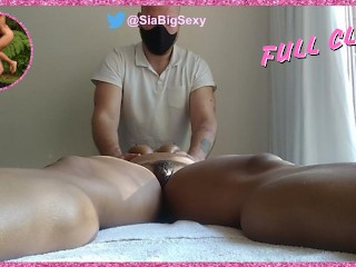 Milf between legs up close sensual yoni massage...