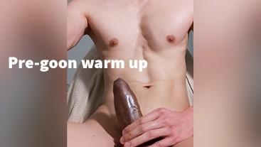 Watch me watch porn under my desk, pre-gooning warm-up