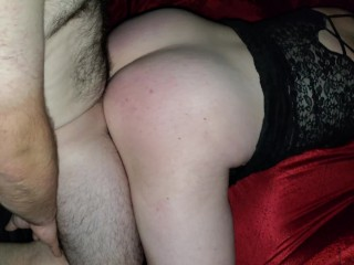 Wife teased friends cock and could not stop, slipped in and had to cum unprotected no condom